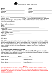 boat bill of sale form 8ws templates u0026 forms