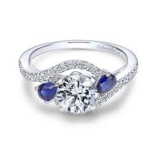 sapphire accent engagement rings sapphire engagement rings blue sapphire rings gabriel co