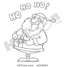 santa clipart 230824 coloring outline santa laughing
