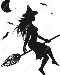 witch halloween background fun character illustration of a witch with halloween background