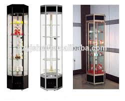 Tall Corner Display Cabinet Store Supply Glass Cabinets Wall Tall Display Case Museum Display
