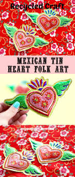 recycled craft mexican tin folk my poppet makes