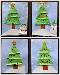 100 holiday arts and crafts for kids pompom christmas tress