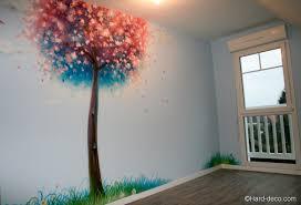 fresque murale chambre peinture murale décorative cerisier japonais