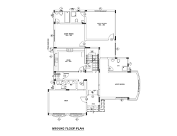 three bed room middle east type floor plan free download