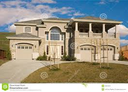 3 car garage home royalty free stock image image 4554816