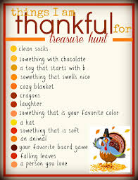a thanksgiving treasure hunt a and a glue gun