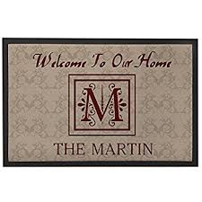 Welcome Doormats Amazon Com Welcome To Our Home Welcome Doormats With Name