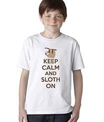 Sloth Meme Shirt - com youth keep calm and sloth on t shirt funny internet meme