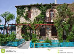 mediterranean house architecture mediterranean house in greece stock photos image