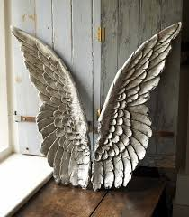 splendid angel wings wall decor 143 large silver angel wings wall