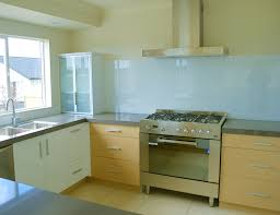 Blue Glass Kitchen Backsplash Kitchen Appealing Light Blue Glass Backsplash With Stainless