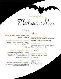 a bat flies around this spooky halloween menu presented on a 8 5 x