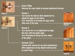 how do i adjust cabinet hinges 3 adjusting cabinet doors affinity kitchens news