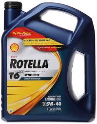 amazon com shell rotella t6 full synthetic heavy duty engine oil