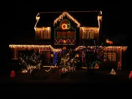 Decorating A Colonial Home by Christmas Decorated Homes Crazy Outdoor Christmas Lights At