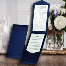 pocketfold invitations pocketfold invitations diy wedding portrait navy shimmer pearlised
