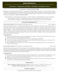 General Ledger Accountant Resume Sample by Crafty Design Accounting Clerk Resume 1 Accounting Resume Sample