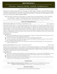 General Ledger Accountant Resume Sample by Crafty Design Accounting Clerk Resume 1 Accounting Resume Sample
