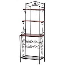 Red Bakers Rack Baker U0027s Rack Holds Wine And Glasses Mwcurtco