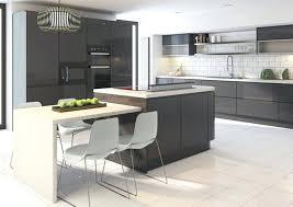 cuisine gris foncé peinture facade gris anthracite meubles cuisine et arlot de