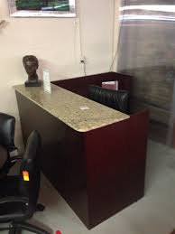Granite And Wood Reception Desk