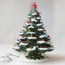 ceramic light up christmas tree christmas tree painted ceramic light up vintage mold 16