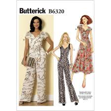 jumpsuit stitching pattern misses sweetheart neckline dress and jumpsuits butterick sewing
