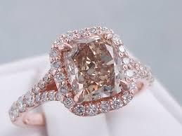 chocolate wedding rings 2 73 ctw cushion cut chocolate engagement ring