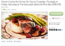 groupon cuisine epicurean bistro wine bar gains customers with groupon
