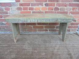 antique farm house primitive wood cast iron bench rustic coffee