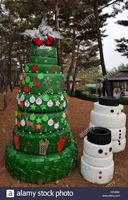 seoul south korea december 31 2016 a christmas tree and