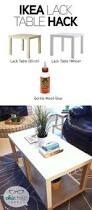 lack end table hack lack side table hack wooden tops home office pinterest ikea