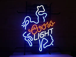 coors light sign amazon new coors light cowboy real glass neon light sign home beer bar pub