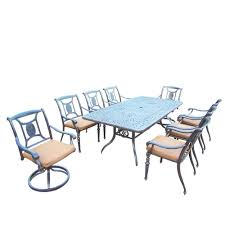 Cast Aluminum Patio Furniture Sets - waterproof patio dining sets patio dining furniture the home