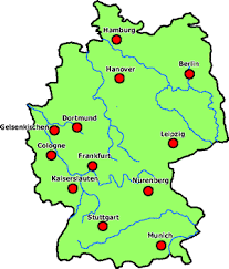 map of germany cities world cup stadium map