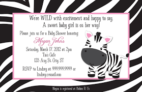 baby shower invitations unique zebra baby shower invitations