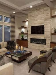 Living Room Fireplace Ideas - cool tone spring ready living room tour elegant living room