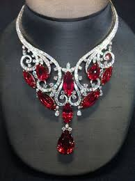 diamond necklace red images Magnificent necklace 180 fiery carats harry winston strikes jpg