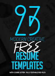 Creative Resume Free Templates 23 Free Creative Resume Templates With Cover Letter Freebies