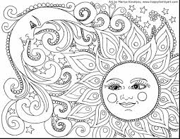 outstanding crescent moon and star coloring pages with moon