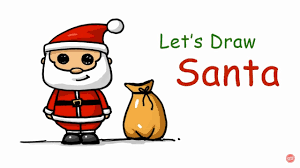 speed drawing how to draw a santa claus background song