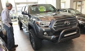 toyota truck dealerships u s auto sales dip again as honda toyota nissan rise detroit 3