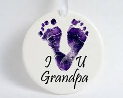 golf footprint ornament with ribbon s caddy