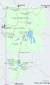 grand map lodging hotels near yellowstone national park wyoming cooke city