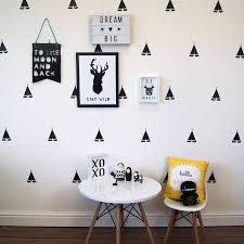 monochrome teepee wall stickers interiors the jays and paris monochrome teepee wall stickers
