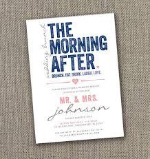 post wedding brunch invitations morning after wedding brunch invitations post wedding brunch
