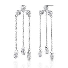 dangly earrings dangle diamond earrings in styles now revealed