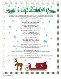 right u0026 left rudolph game passing game my family has played