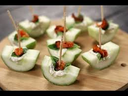 cucumber canapes cheese and cucumber canapes sanjeev kapoor khazana